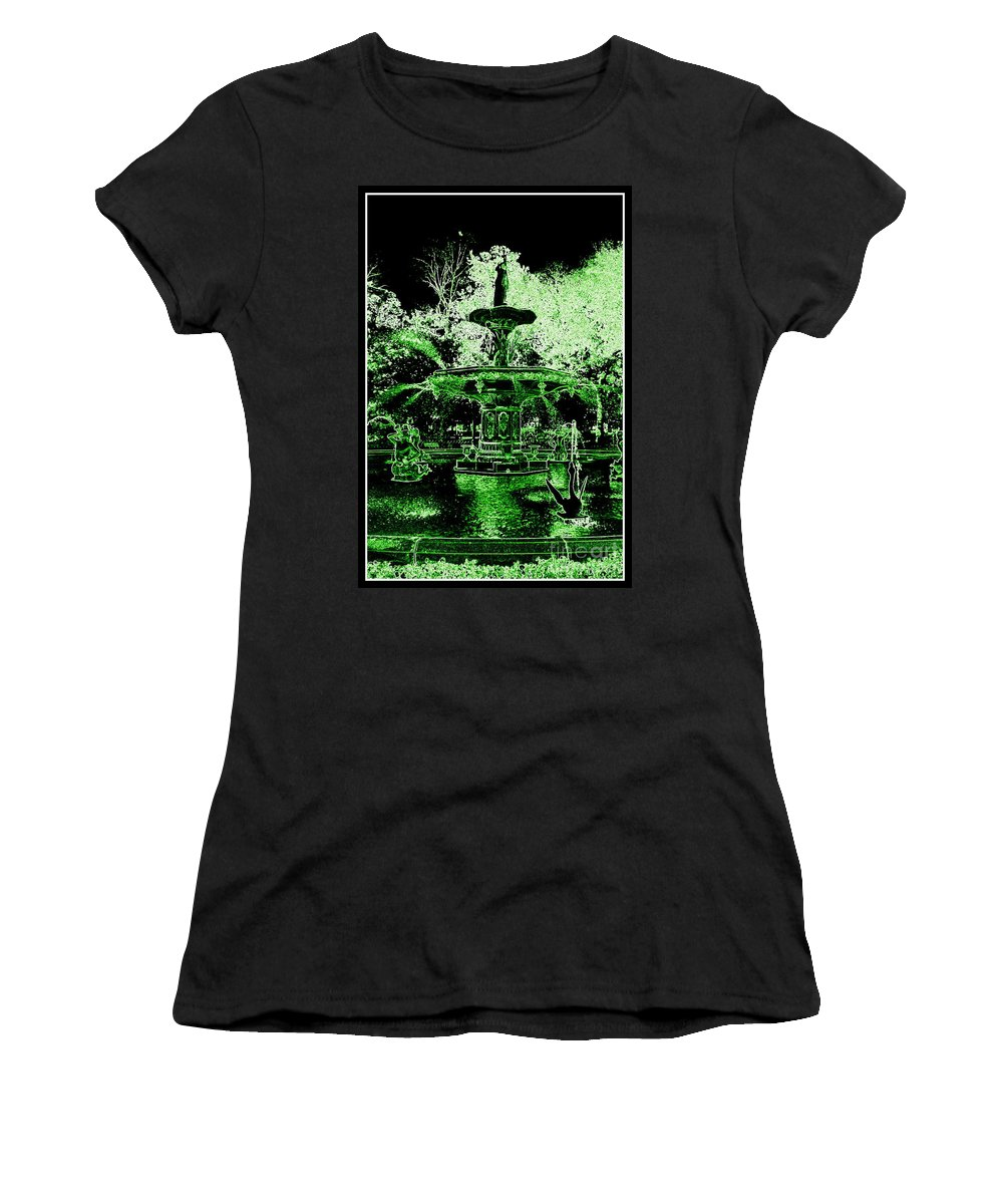 Savannah Women's T-Shirt featuring the photograph Green Savannah by Carol Groenen