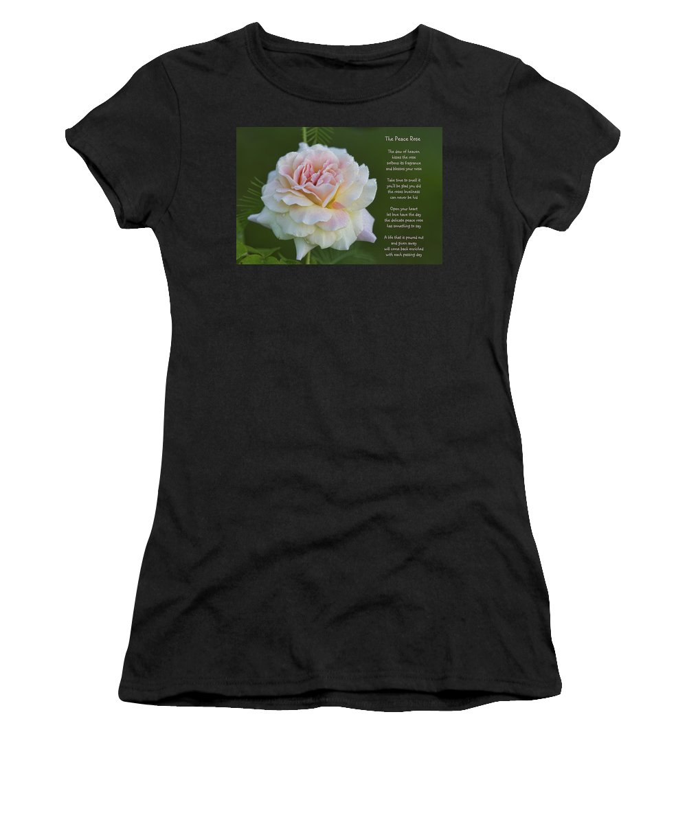 Peace Women's T-Shirt (Athletic Fit) featuring the photograph The Peace Rose by Kathy Clark