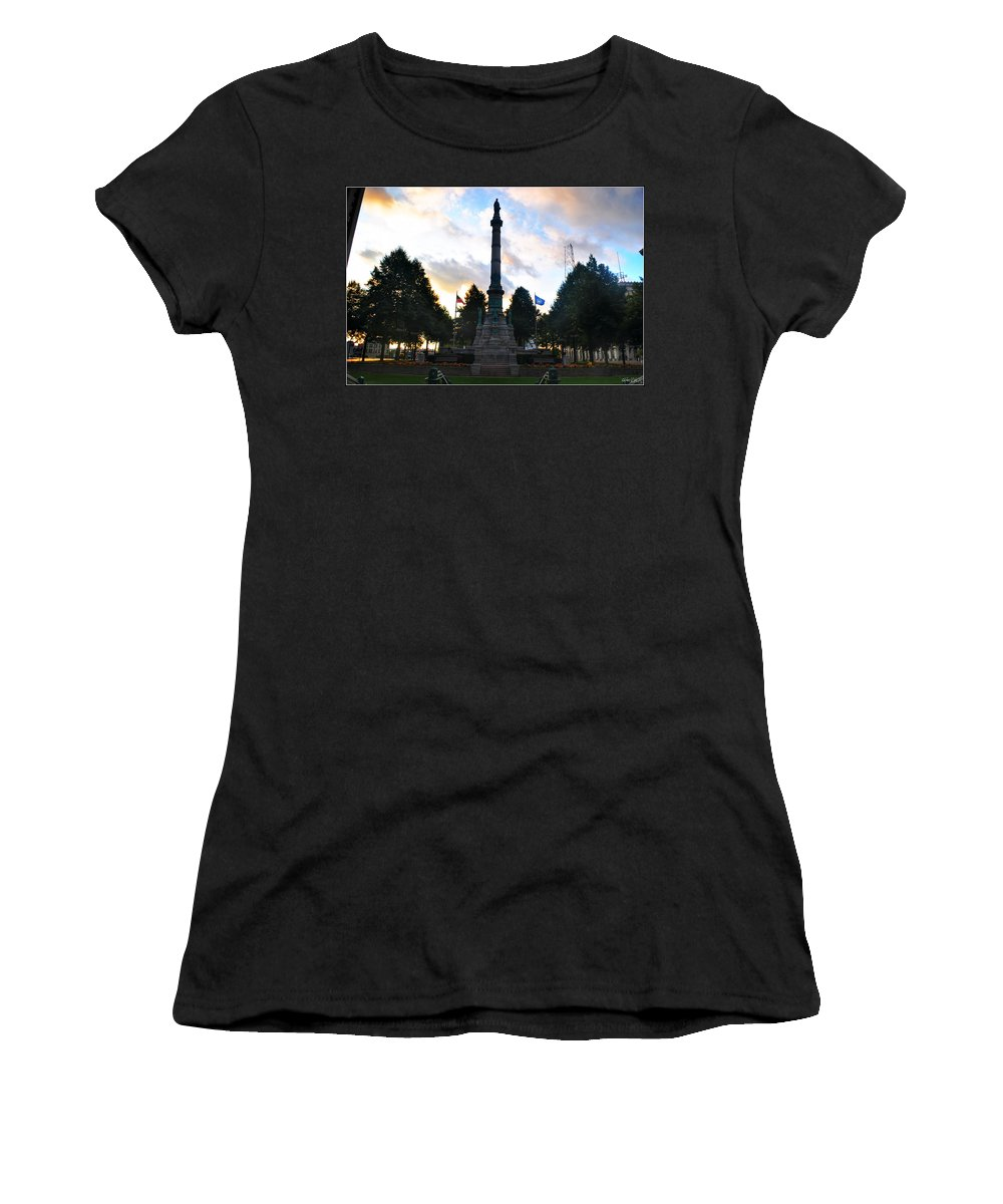Women's T-Shirt featuring the photograph The Soldiers And Sailors Monument In Lafayette Square by Michael Frank Jr
