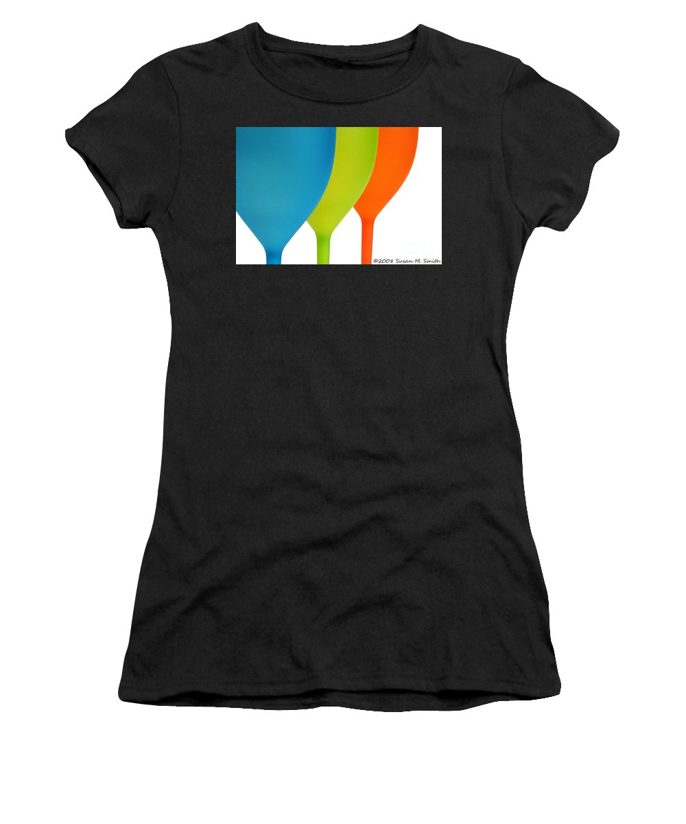 Photograph Women's T-Shirt (Athletic Fit) featuring the photograph Three Of Cups by Susan Smith