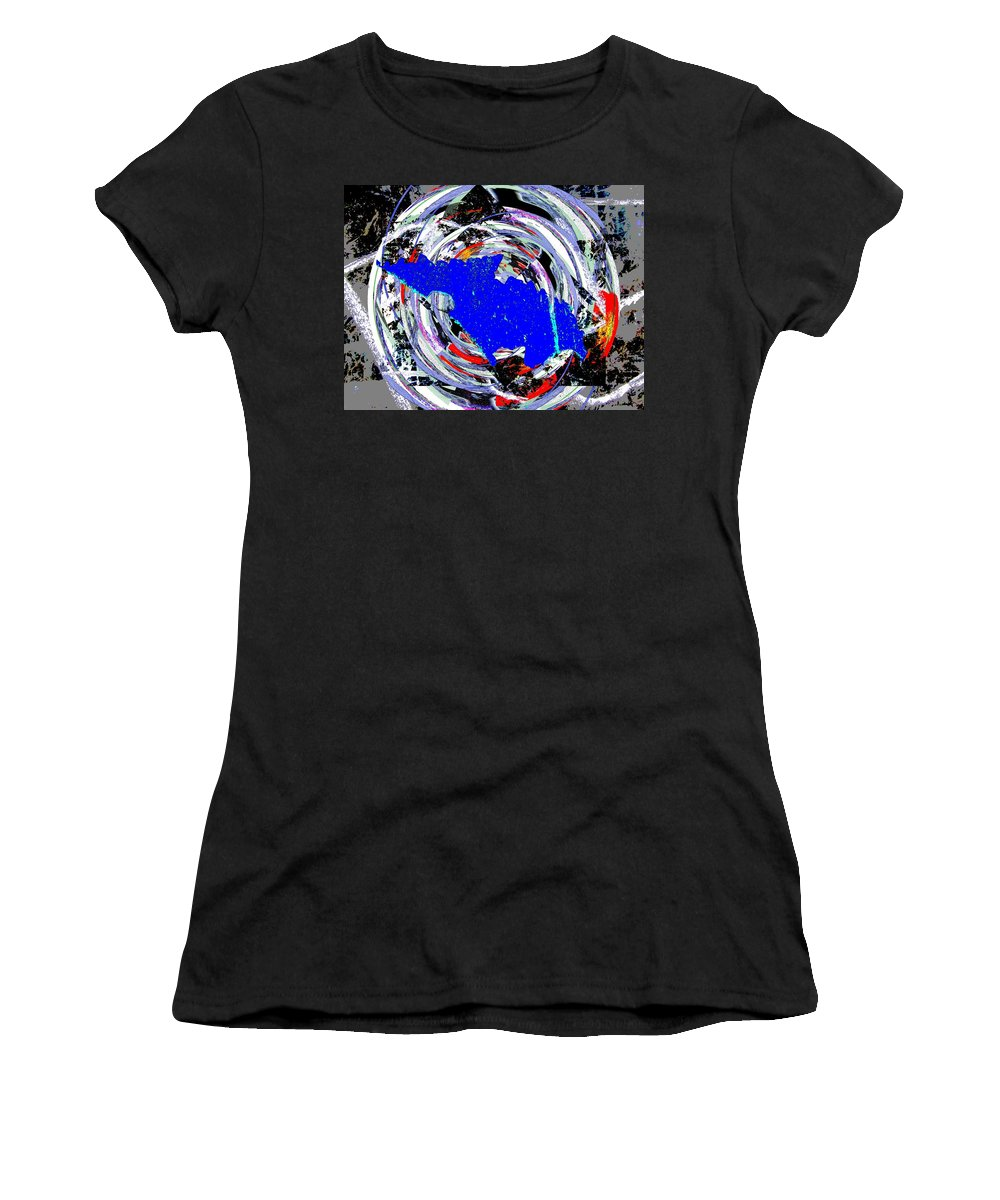 Torn Women's T-Shirt (Athletic Fit) featuring the digital art Torn by Tim Allen
