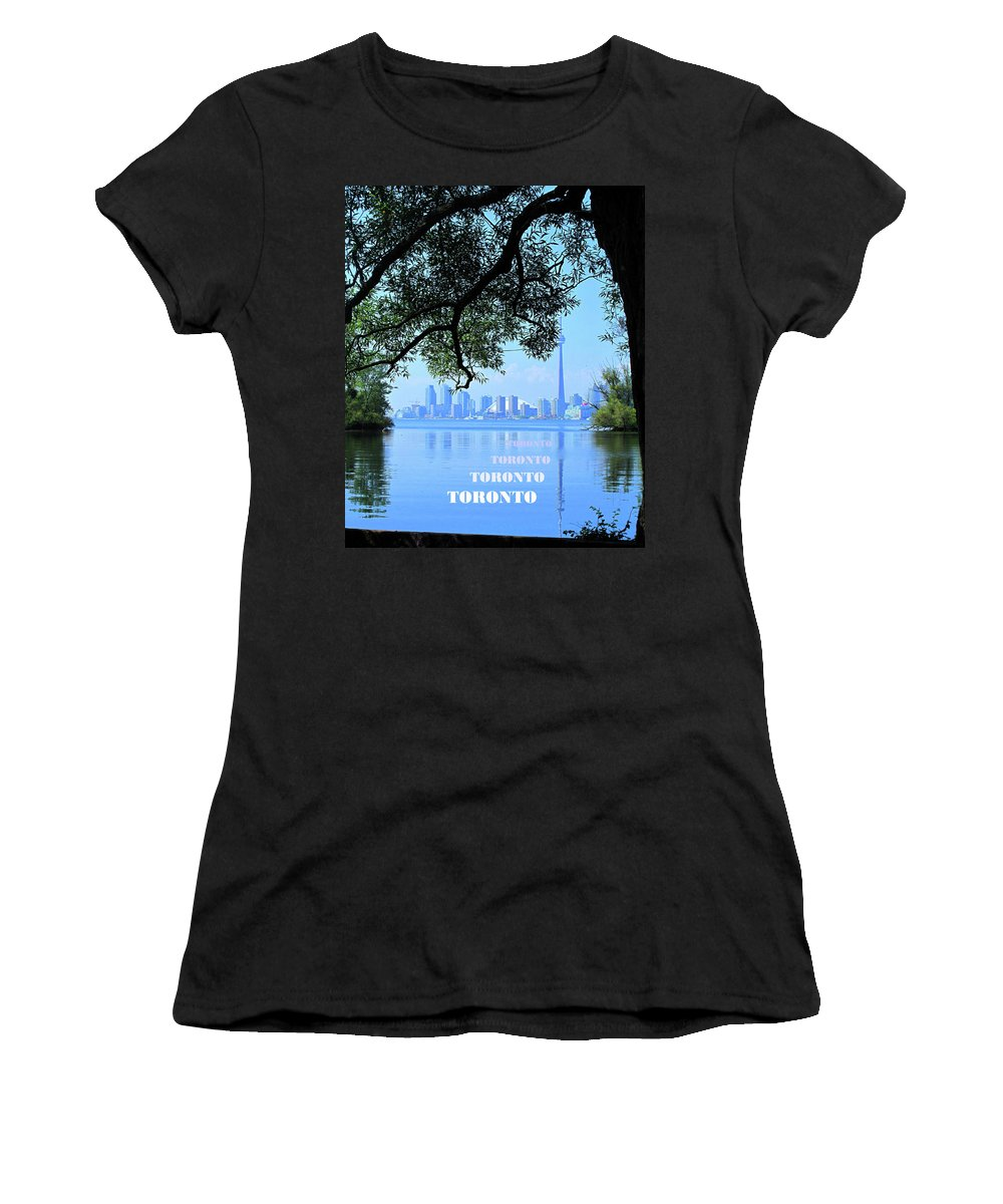 Toronto Women's T-Shirt (Athletic Fit) featuring the photograph Toronto Harbour Poster by Ian MacDonald