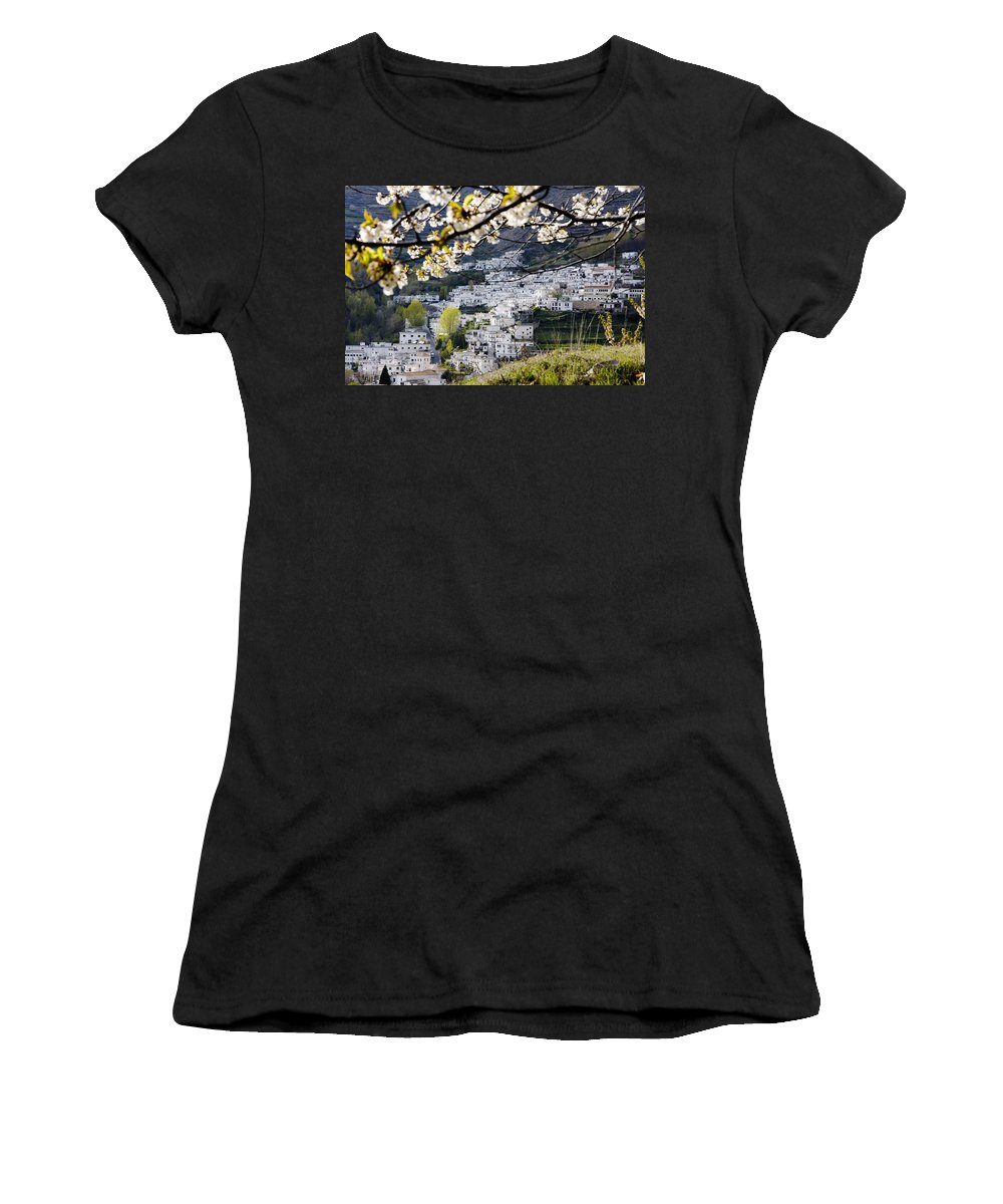 Photography Women's T-Shirt (Athletic Fit) featuring the photograph Trevelez In Sierra Nevada Mountains by Axiom Photographic