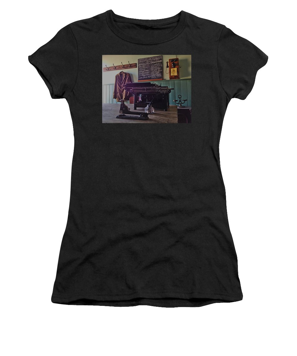 Jacket Women's T-Shirt (Athletic Fit) featuring the photograph Unemployed by The Artist Project