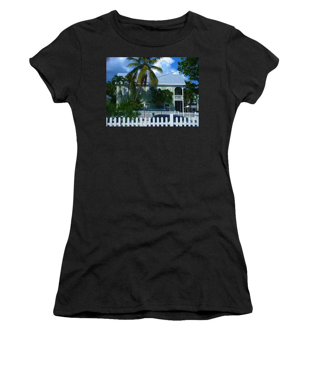 Key West Women's T-Shirt (Athletic Fit) featuring the photograph Urban Key West by Susanne Van Hulst