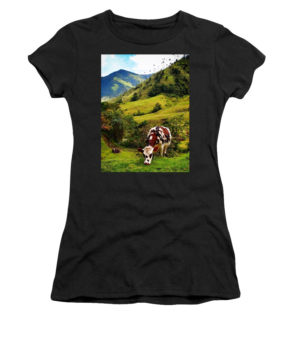 Vaca Women's T-Shirt (Athletic Fit) featuring the photograph Vaca by Skip Hunt
