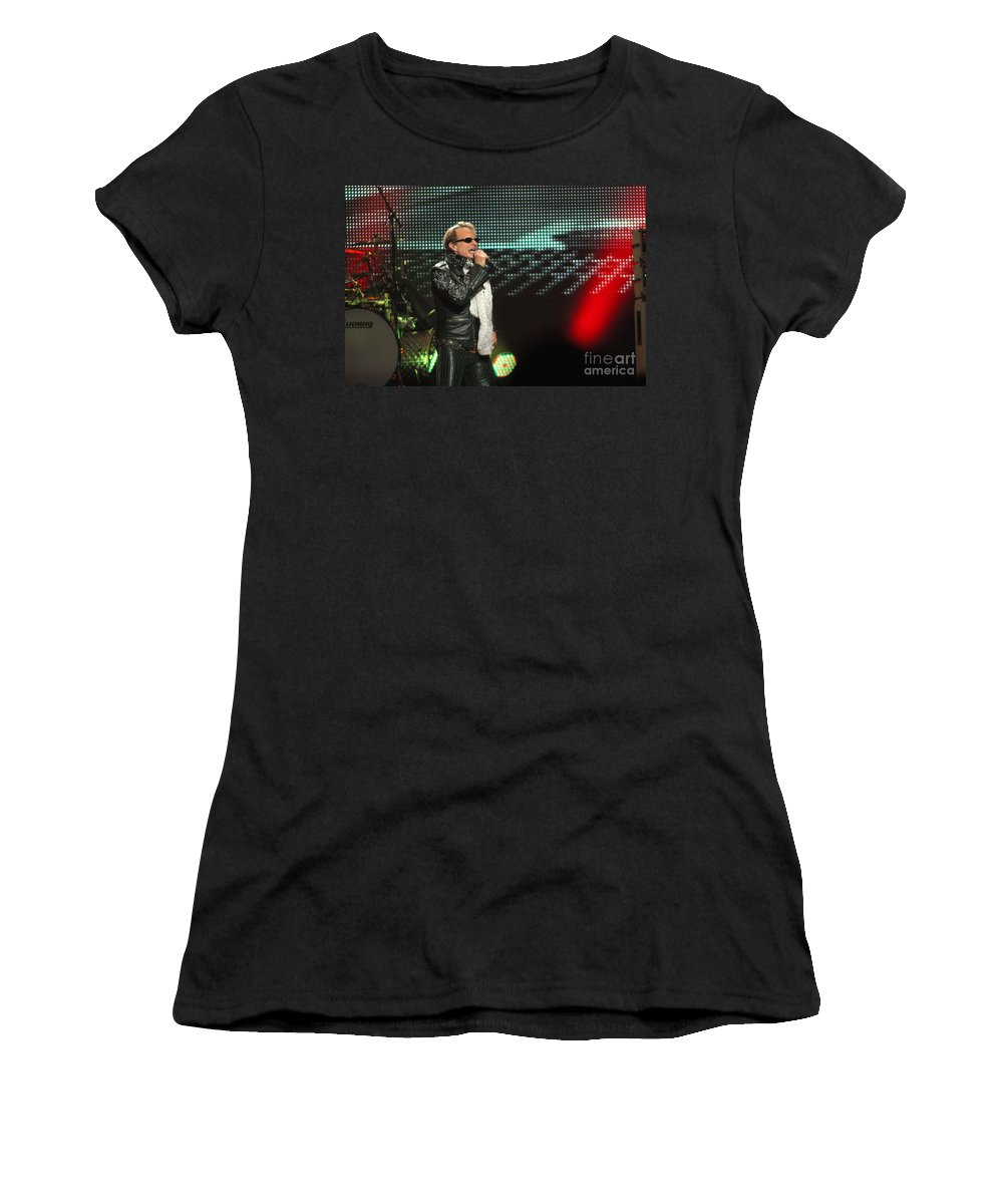Van Halen Women's T-Shirt (Athletic Fit) featuring the photograph Van Halen-7083 by Gary Gingrich Galleries
