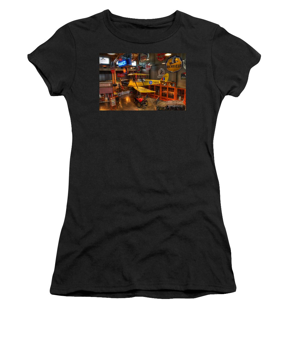 Vintage Airplane Women's T-Shirt (Athletic Fit) featuring the photograph Vintage Assortment by Bob Christopher