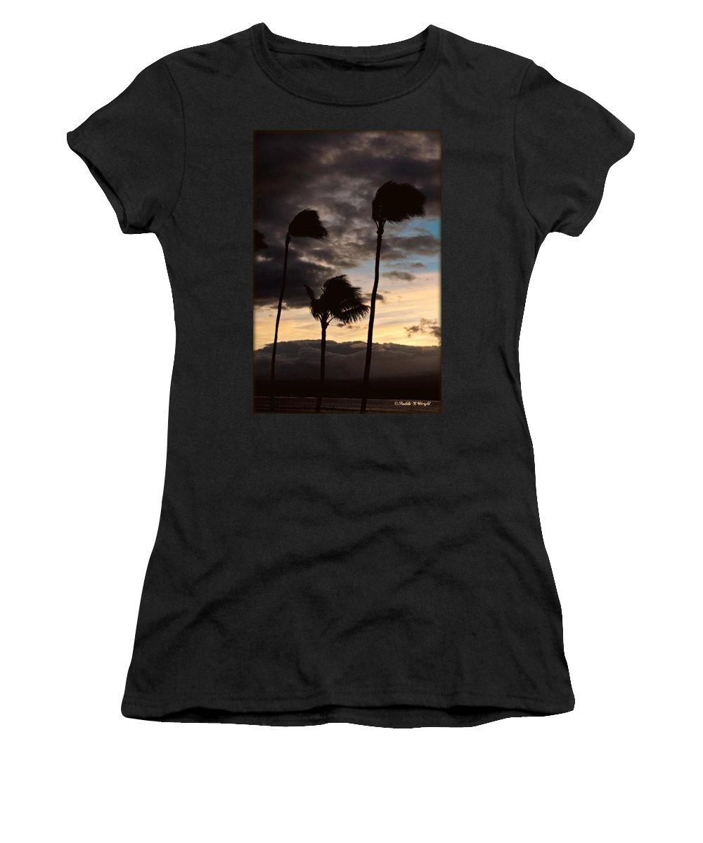 Interior Design Women's T-Shirt featuring the photograph Wa'alaea Sunrise by Paulette B Wright