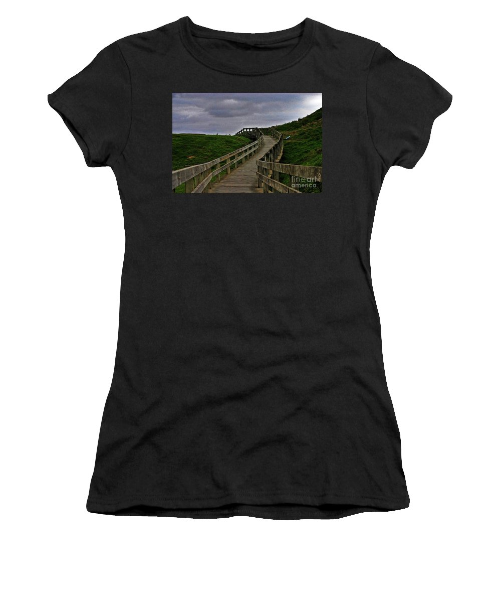 Phillip Island Women's T-Shirt featuring the photograph Walkway On Phillip Island by Blair Stuart