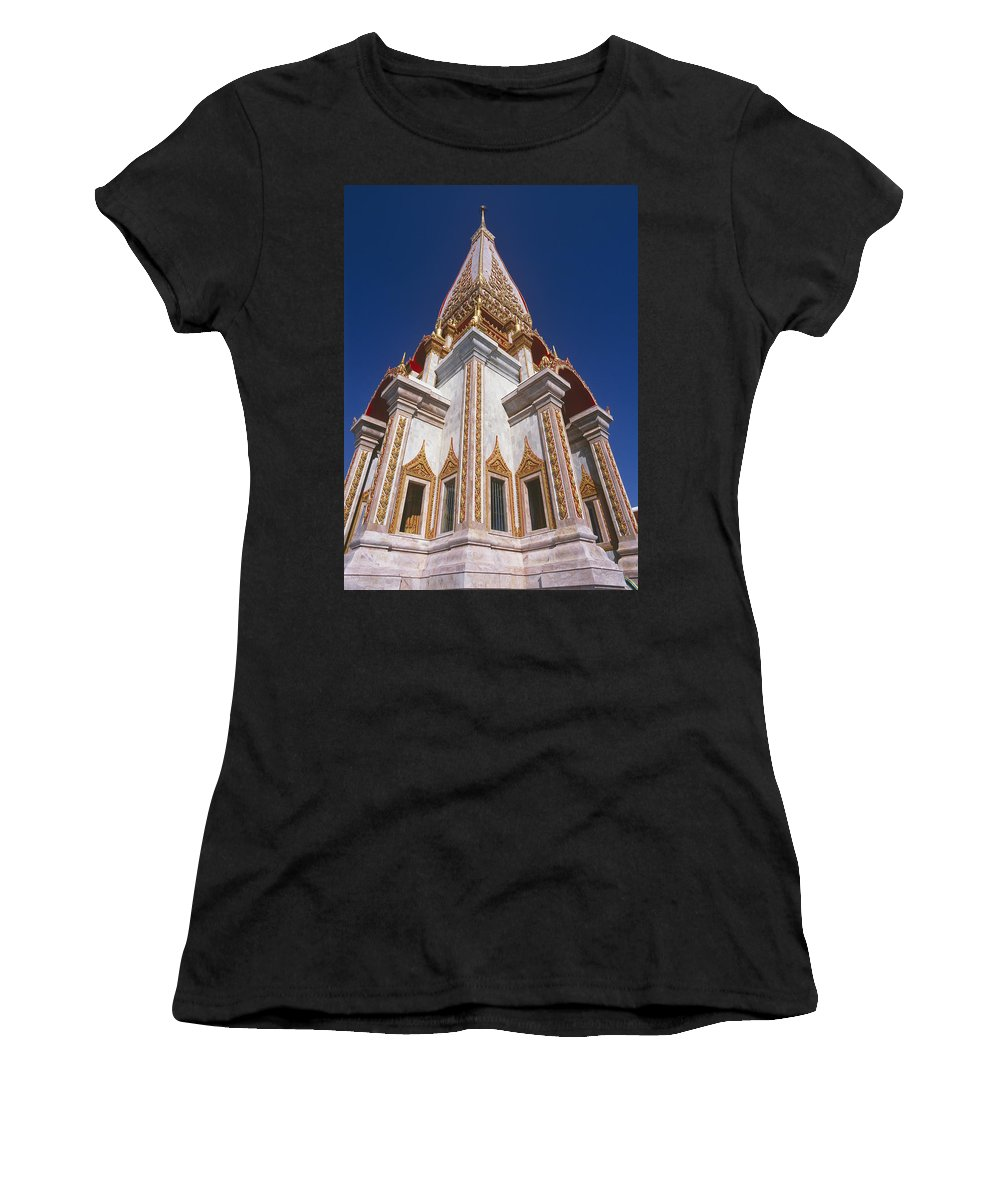 Wat Chalong Women's T-Shirt (Athletic Fit) featuring the photograph Wat Chalong Exterior by Axiom Photographic