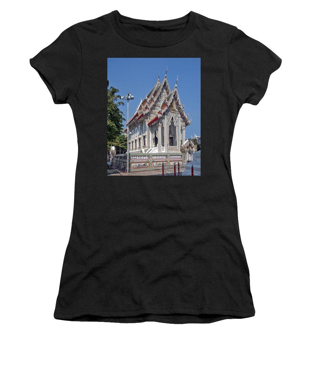 Bangkok Women's T-Shirt featuring the photograph Wat Suan Phlu Ubosot Dthb1128 by Gerry Gantt