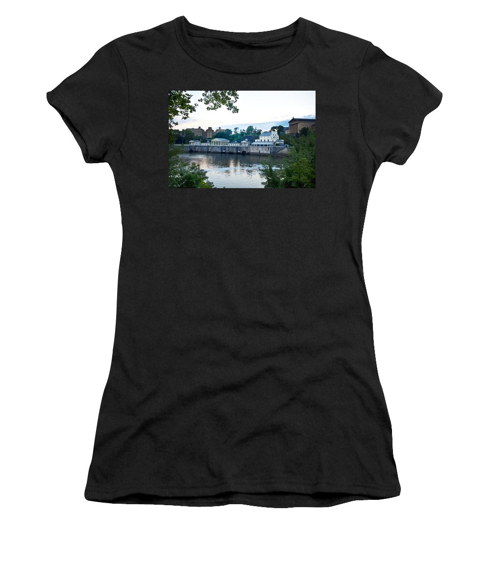 Waterworks View Women's T-Shirt (Athletic Fit) featuring the photograph Waterworks View by Bill Cannon