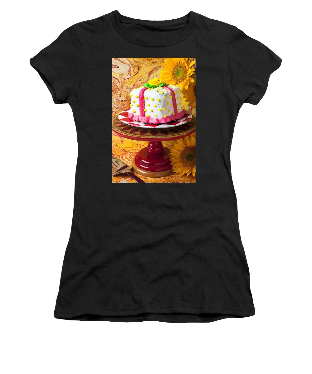 White Women's T-Shirt (Athletic Fit) featuring the photograph White Cake by Garry Gay