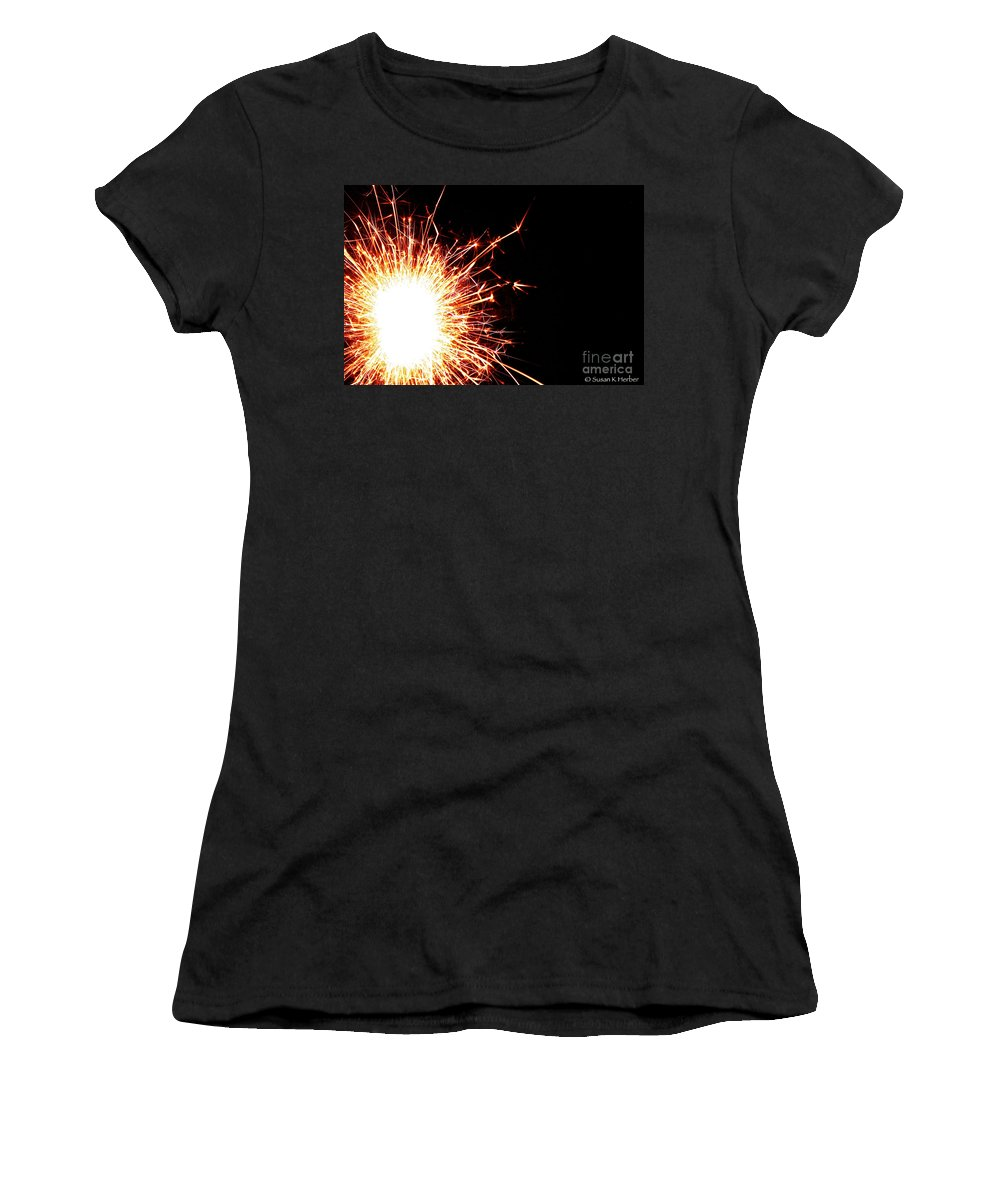 Fire Women's T-Shirt (Athletic Fit) featuring the photograph White Center by Susan Herber