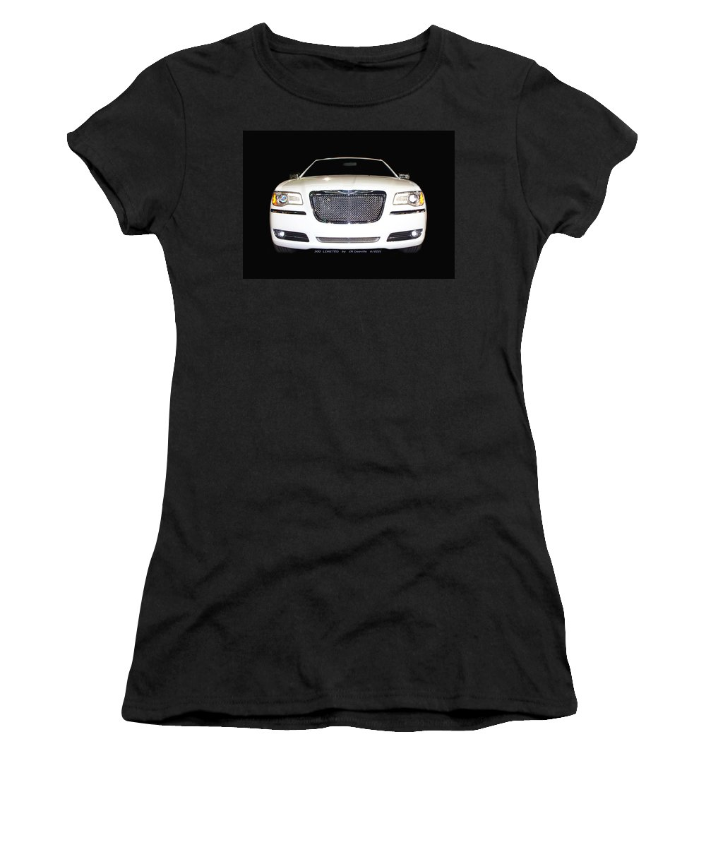 Original Women's T-Shirt featuring the photograph White Three Hundred Limited In Black by Carl Deaville