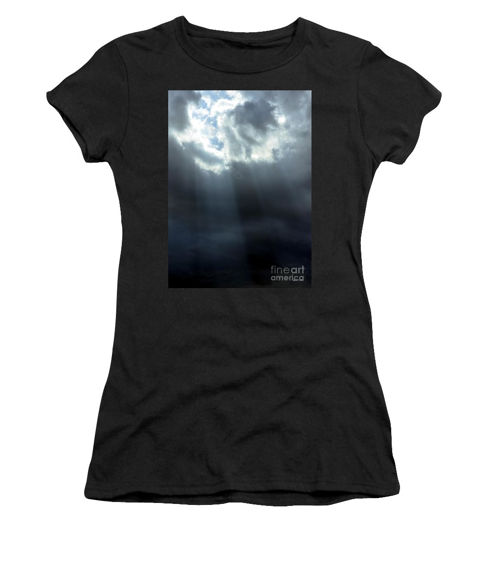 Tears Women's T-Shirt featuring the photograph With His Tears He Cleanses by Maria Urso