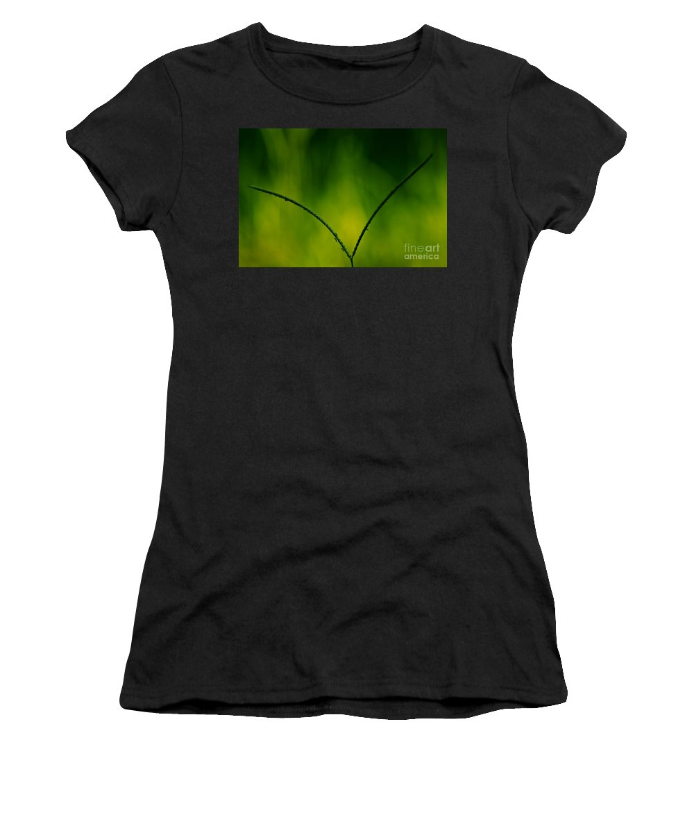 Grass Women's T-Shirt (Athletic Fit) featuring the mixed media Working The V by Kim Henderson