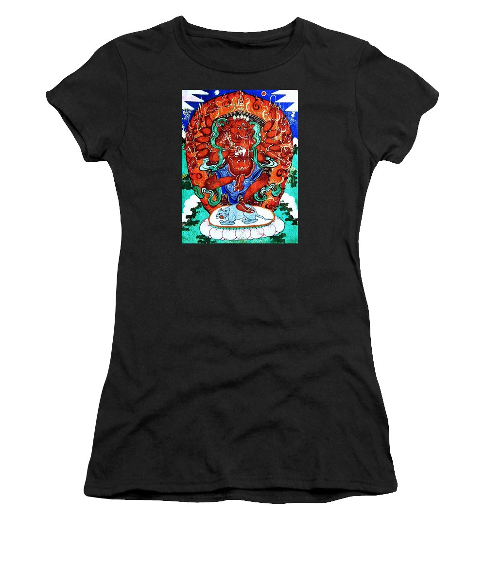 Ganesh Women's T-Shirt (Athletic Fit) featuring the photograph Ganapati 11 by Jeelan Clark