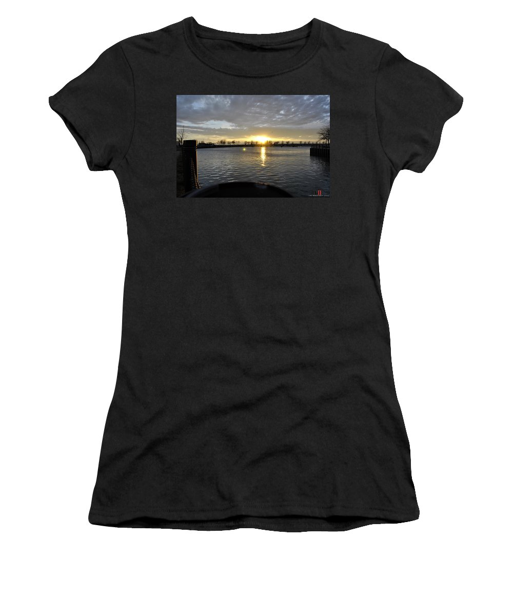 Buffalo Women's T-Shirt featuring the photograph 012 April Sunsets by Michael Frank Jr
