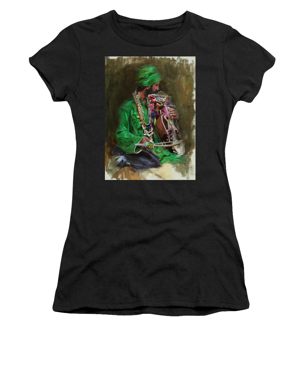 Women Women's T-Shirt featuring the painting 023 Sindh by Mahnoor Shah