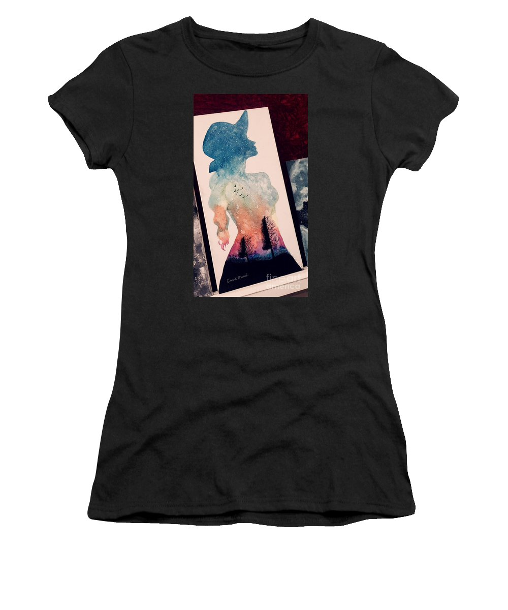 Women's T-Shirt featuring the drawing 20 by Faris Ahmad