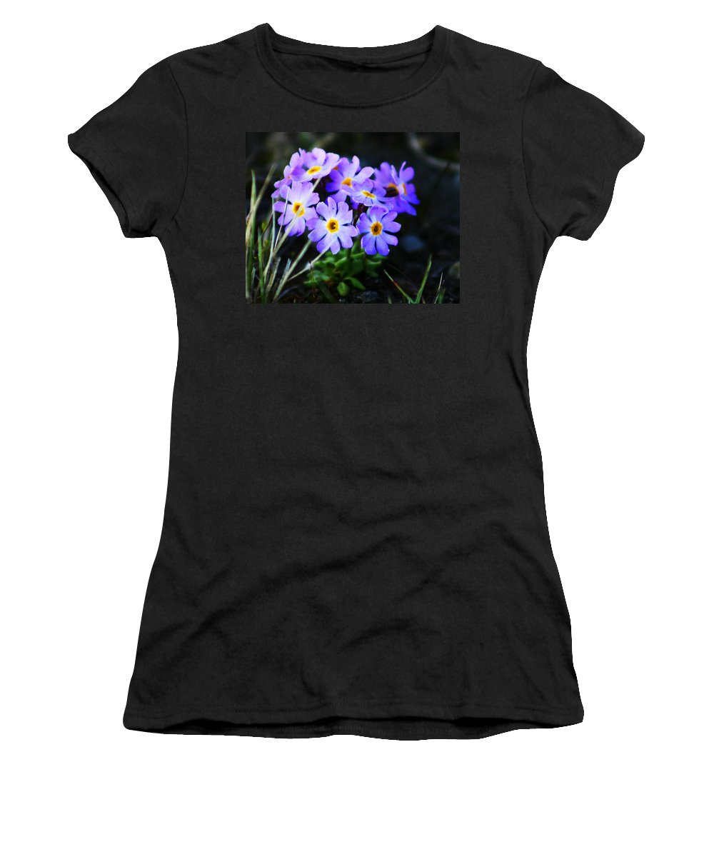 Flowers Women's T-Shirt (Athletic Fit) featuring the photograph Alaskan Wild Flowers by Anthony Jones
