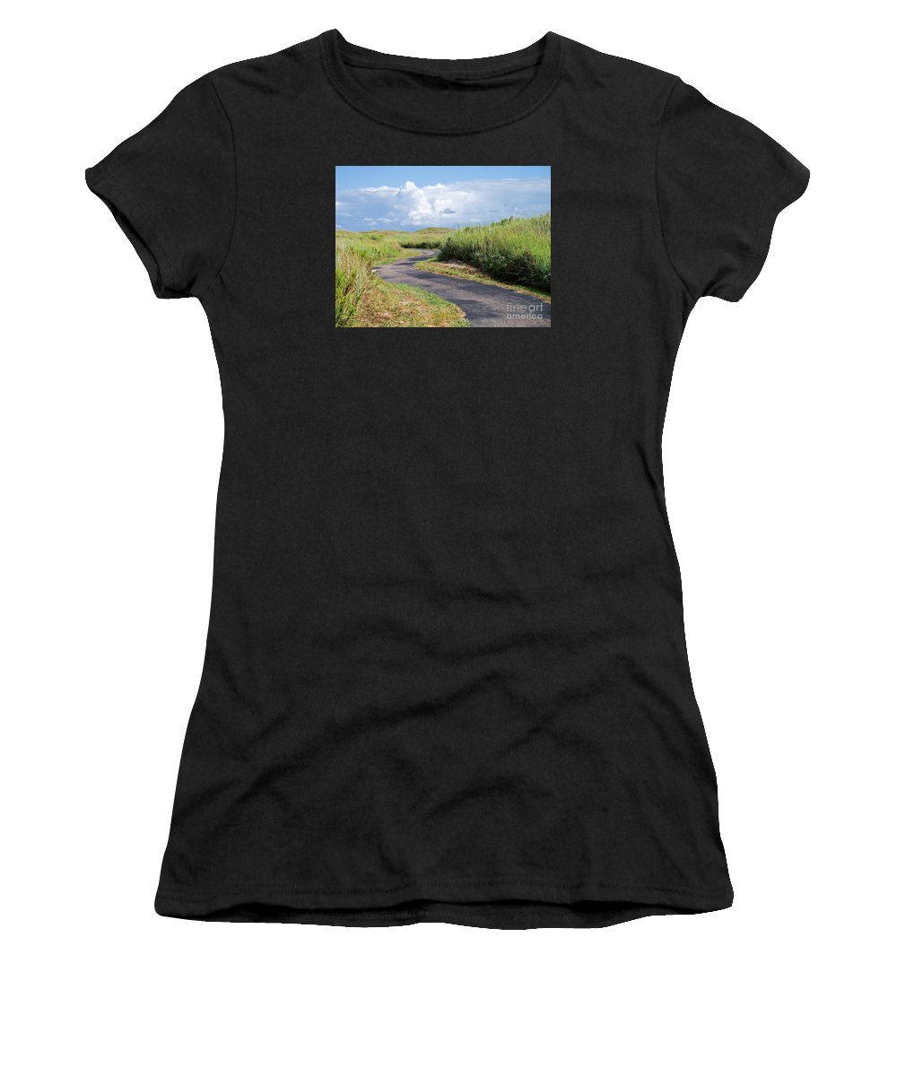 Path Women's T-Shirt (Athletic Fit) featuring the photograph An Inviting Path by Gary Richards
