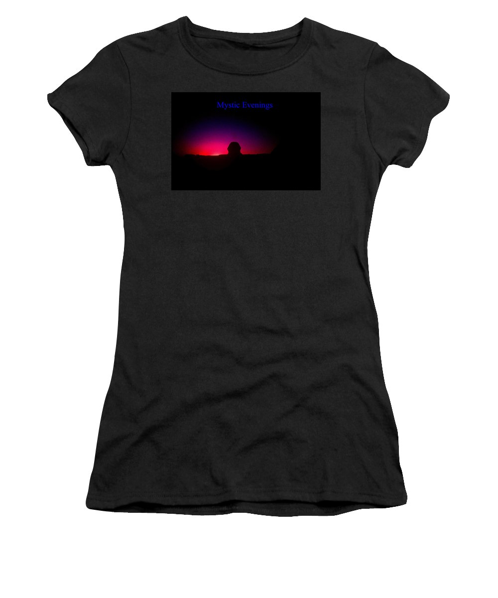Sphinx Women's T-Shirt featuring the photograph Ancient Evenings by Gary Wonning