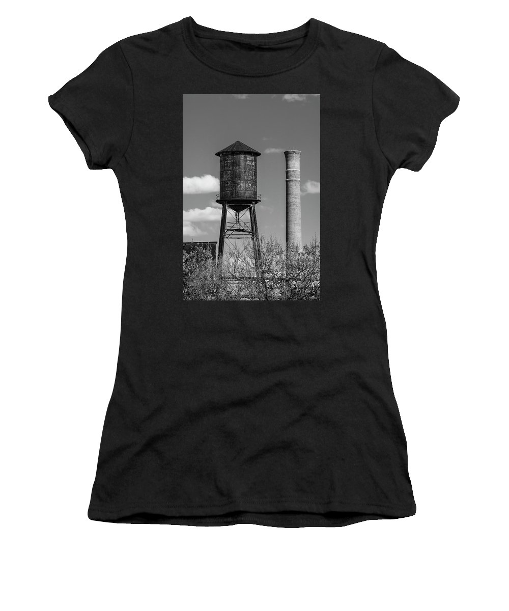 Photo For Sale Women's T-Shirt (Athletic Fit) featuring the photograph Atlanta Water Tower by Robert Wilder Jr