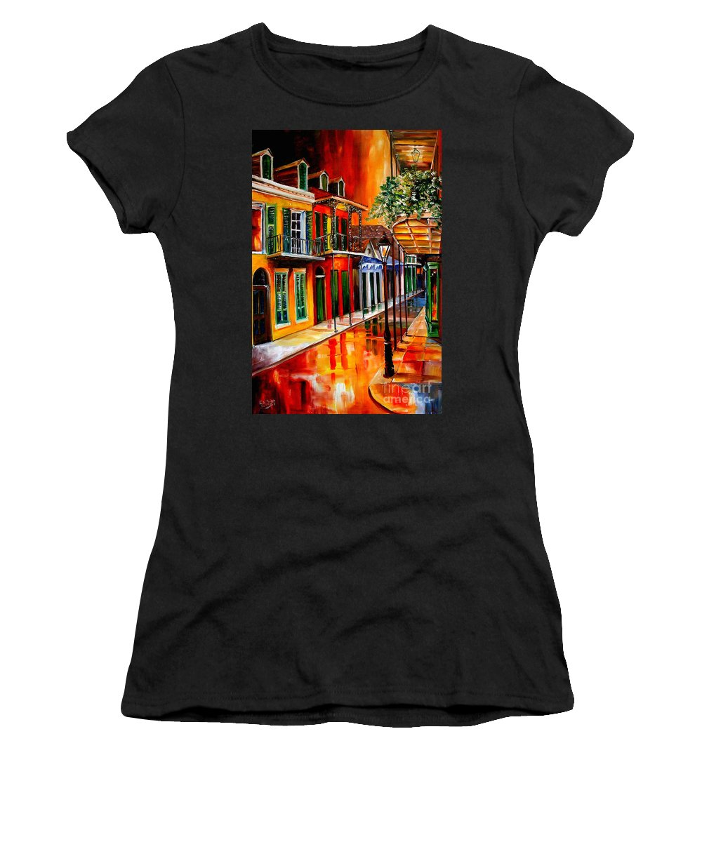 New Orleans Women's T-Shirt (Athletic Fit) featuring the painting Bold Vieux Carre by Diane Millsap