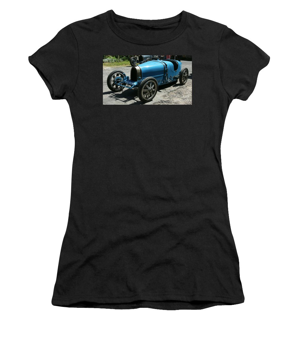 Oldtimer Women's T-Shirt (Athletic Fit) featuring the photograph Bugatti Oldtimer by Christiane Schulze Art And Photography