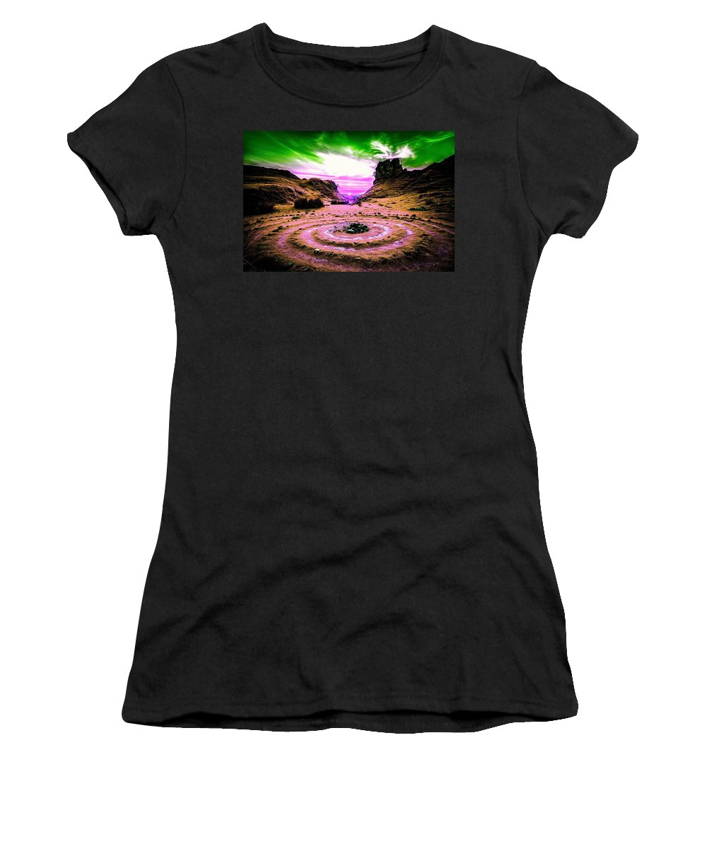 Mountain Women's T-Shirt (Athletic Fit) featuring the photograph Cloudy Day by Ca Photography