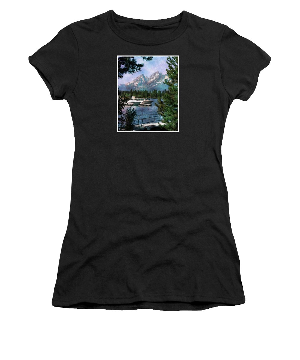 Colter Women's T-Shirt (Athletic Fit) featuring the photograph Colter Bay In The Tetons by Margie Wildblood