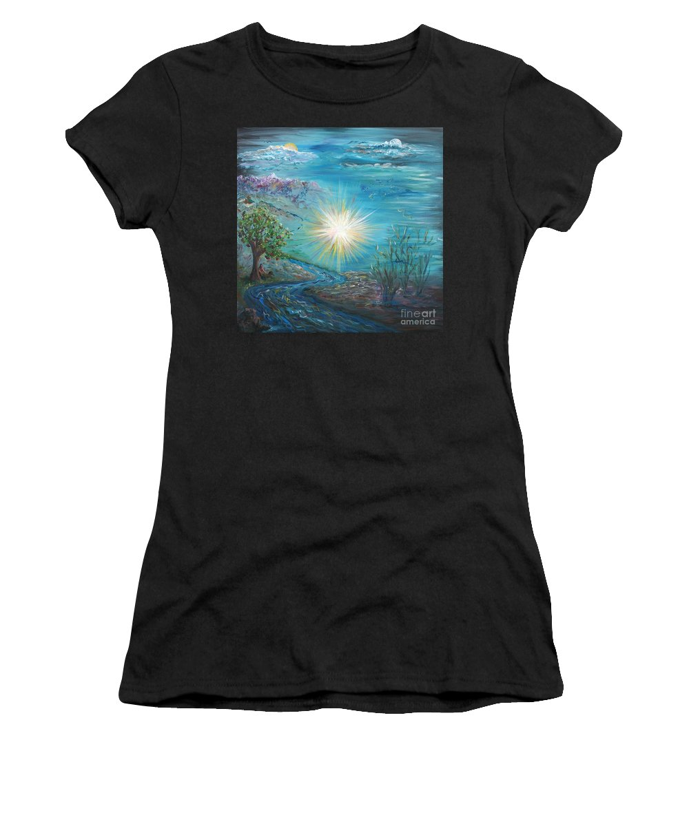 Creation Women's T-Shirt (Athletic Fit) featuring the painting Creation by Nadine Rippelmeyer
