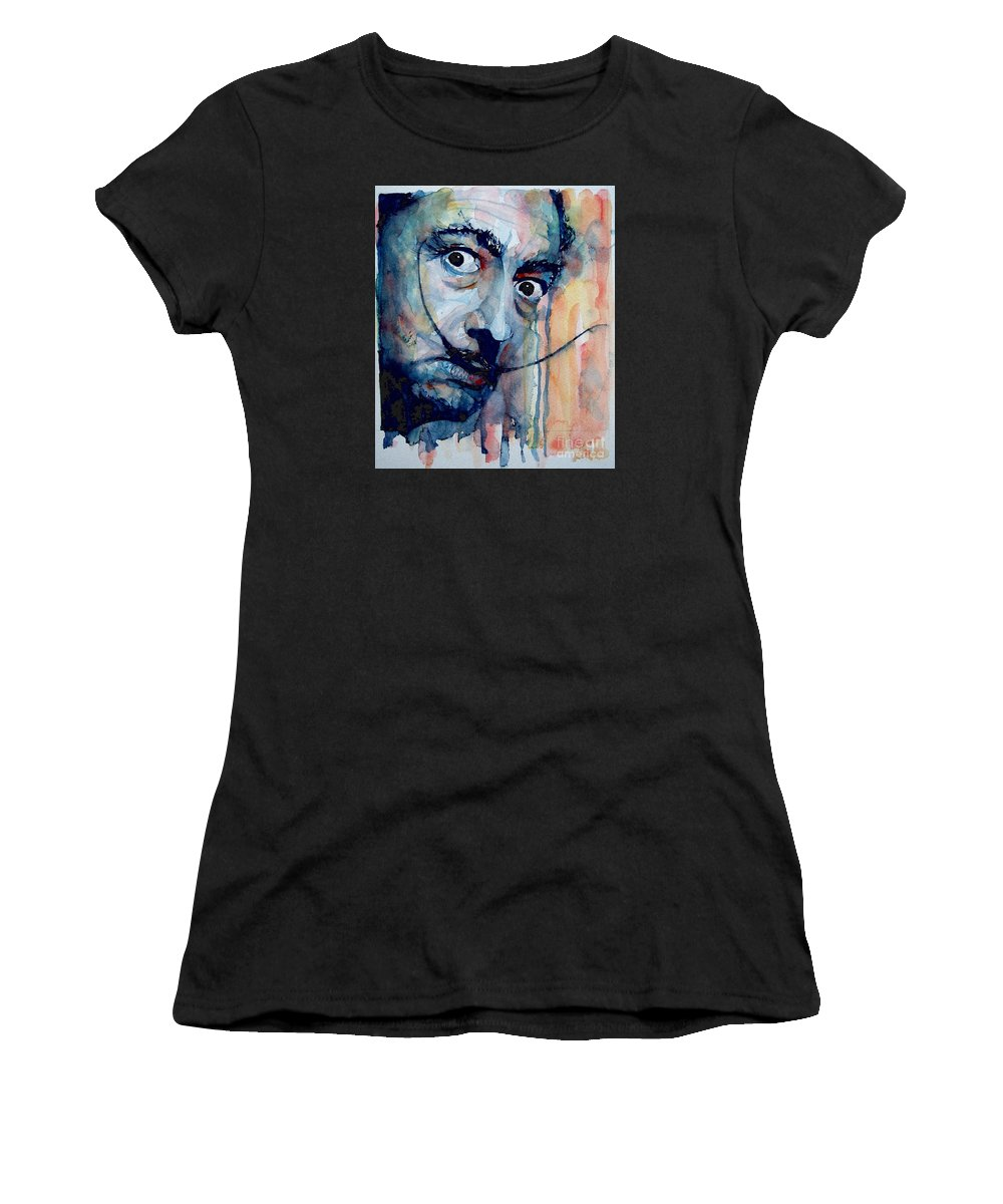 Salvador Dali Women's T-Shirt featuring the painting Dali by Paul Lovering