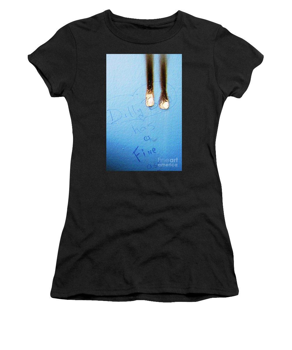 Photograph Fine Ass Blue Women's T-Shirt (Athletic Fit) featuring the photograph Fine Ass by Seon-Jeong Kim