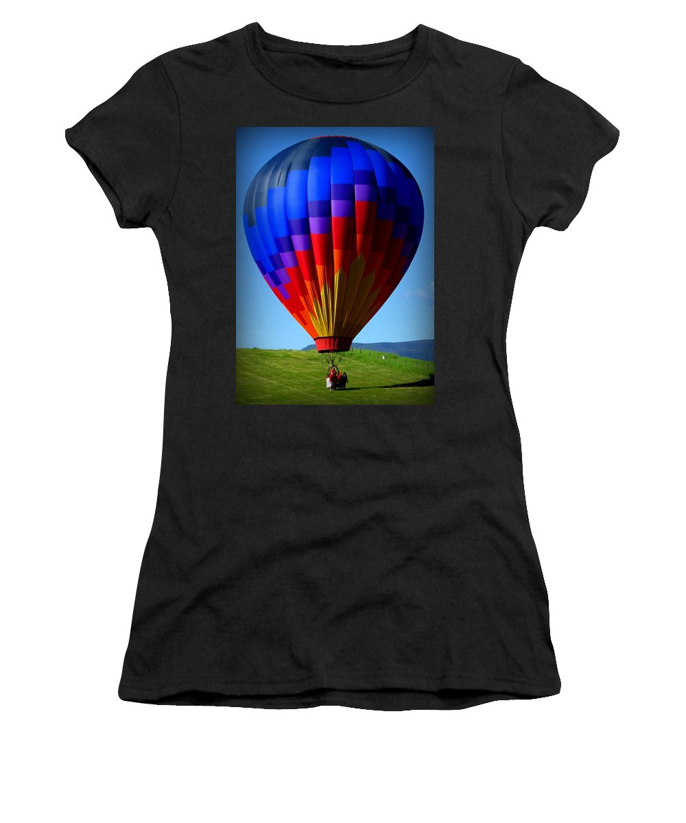 Diane M Dittus Women's T-Shirt featuring the photograph Floatin' In The Rockies 21 by Diane M Dittus