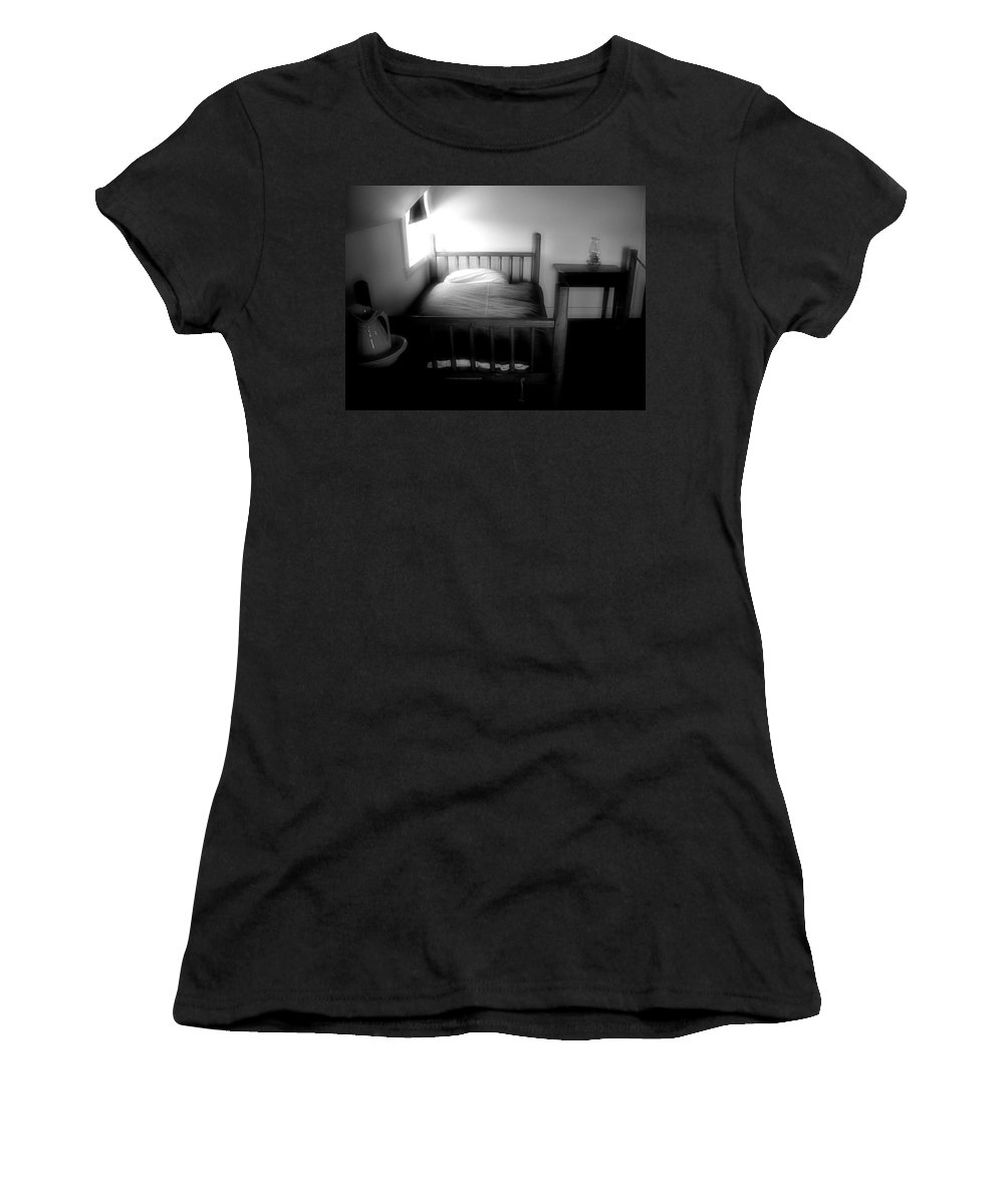 Bedroom Women's T-Shirt (Athletic Fit) featuring the photograph Gable Sanctuary by RC DeWinter
