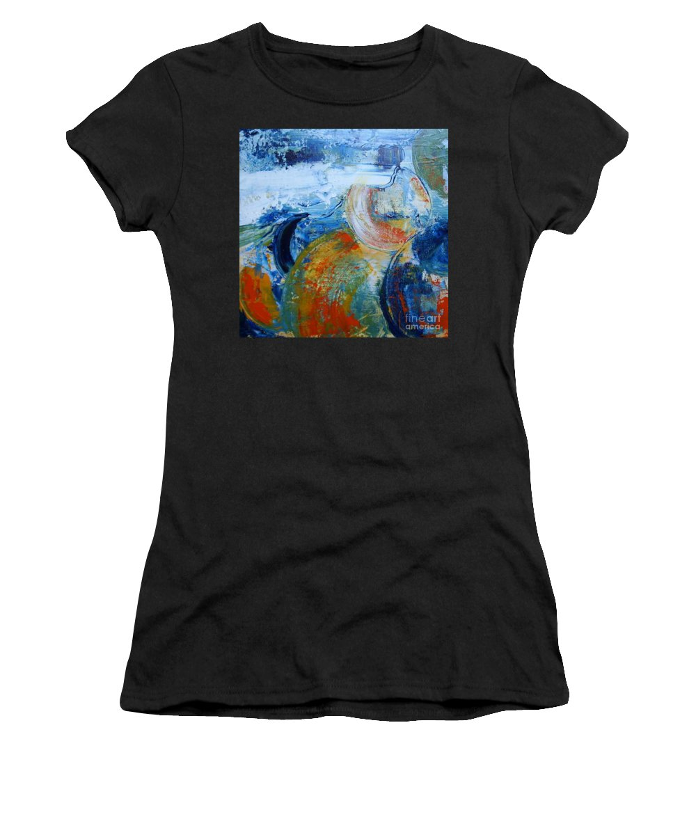 .... Women's T-Shirt (Athletic Fit) featuring the painting Galaxie by Aline Halle-Gilbert