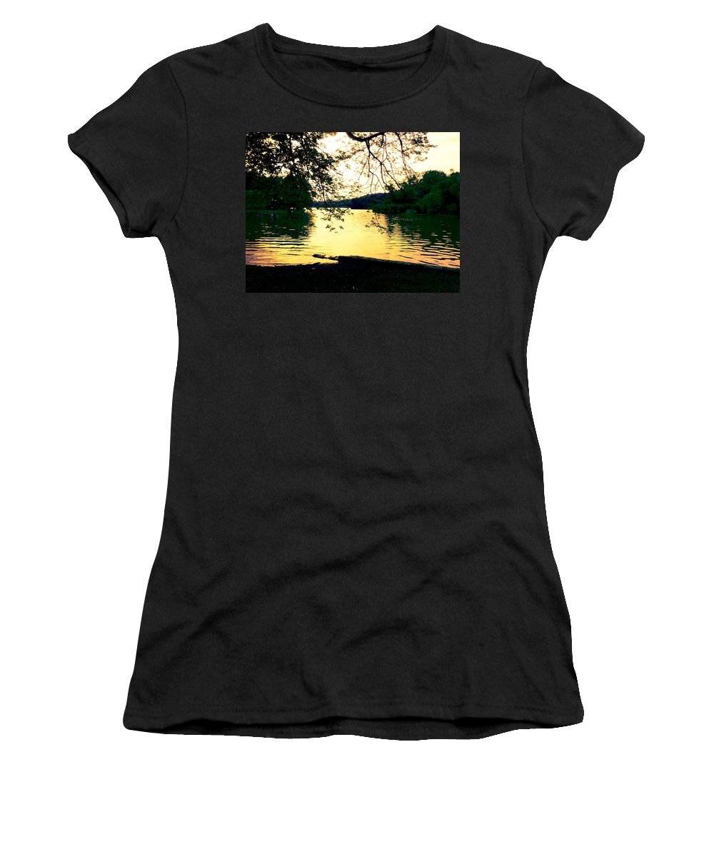 Landscape Women's T-Shirt (Athletic Fit) featuring the photograph Golden Days by Kendall Eutemey