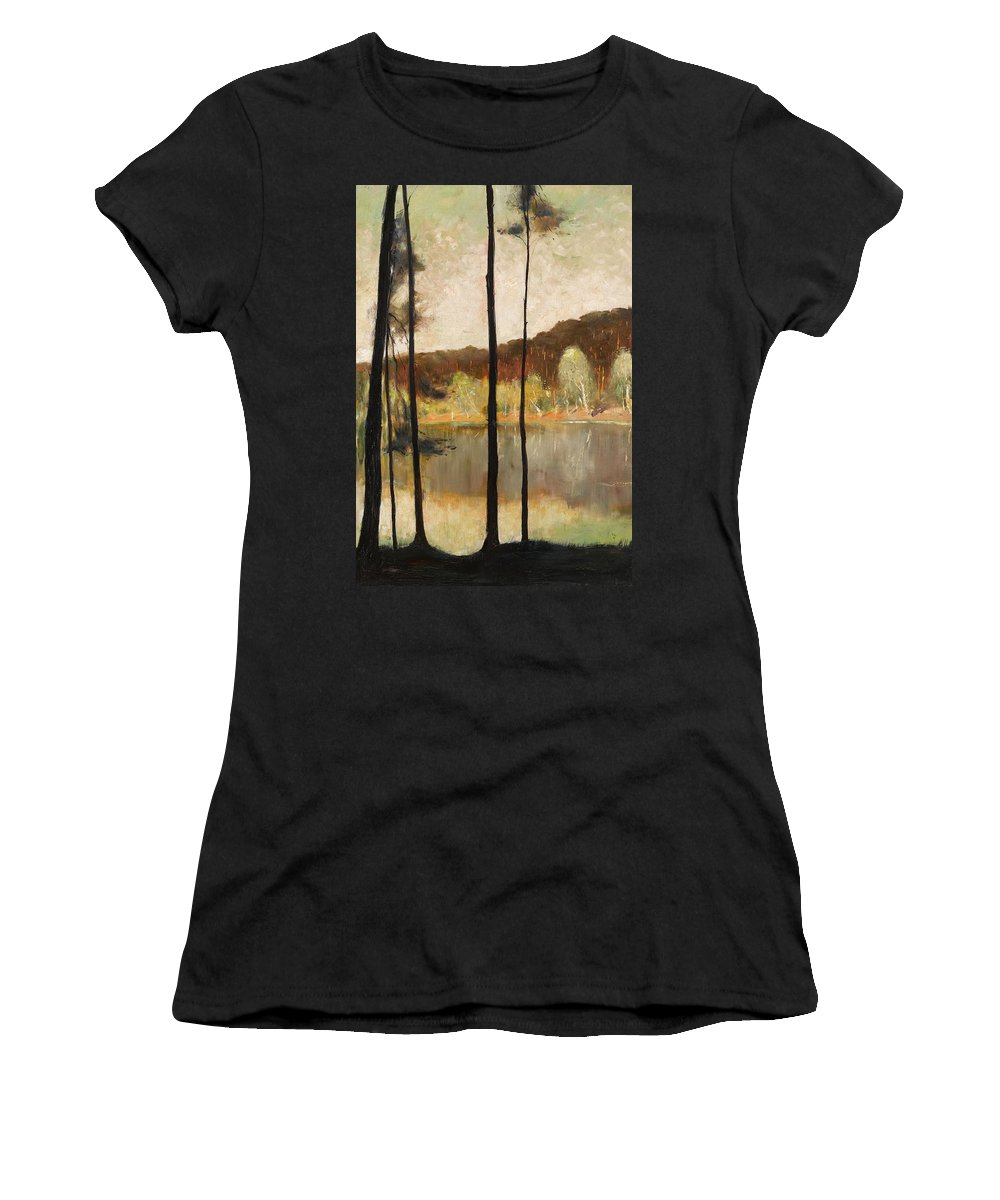 Lesser Ury 1861 - 1931 Grunewald Women's T-Shirt featuring the painting Grunewald by MotionAge Designs