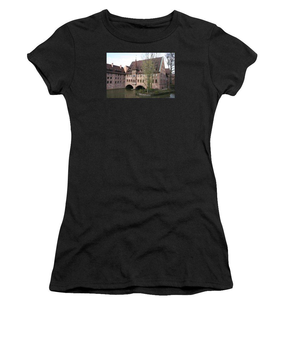 Asylum Women's T-Shirt featuring the photograph Heilig Geist Spital - Nuremberg by Christiane Schulze Art And Photography
