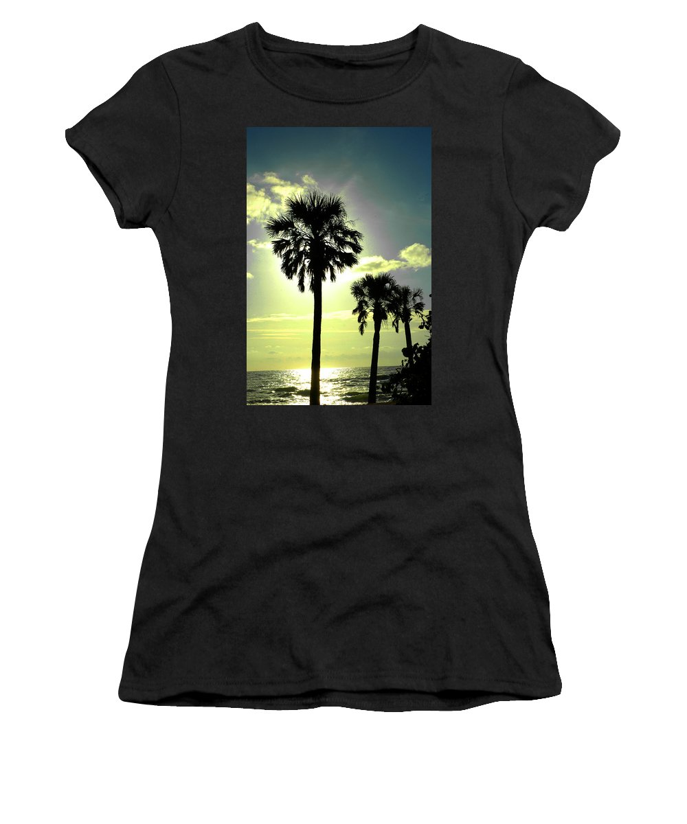 Photography Women's T-Shirt (Athletic Fit) featuring the photograph Honeymoon Island Sunset by Susanne Van Hulst