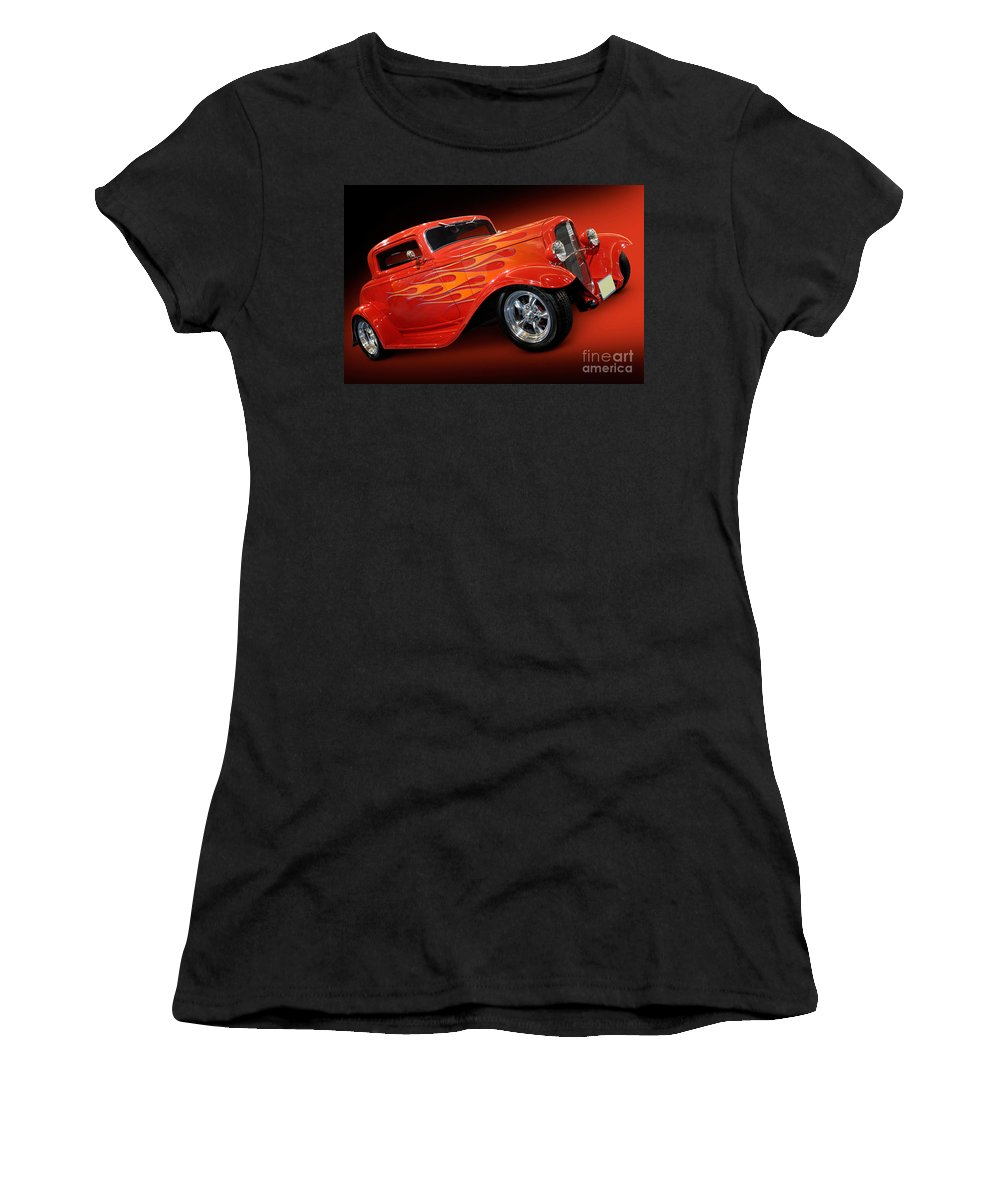 Hot Rod Women's T-Shirt featuring the photograph Hot Rod Ford Coupe 1932 by Oleksiy Maksymenko
