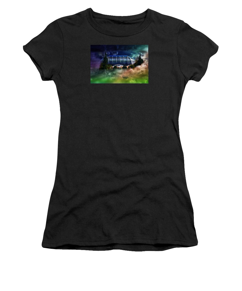 Weather Women's T-Shirt (Athletic Fit) featuring the photograph House In The Sky by Flavien Gillet