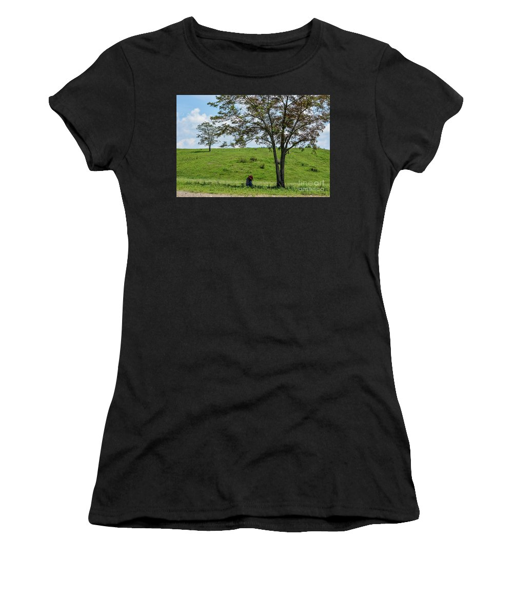 Scenery Women's T-Shirt (Athletic Fit) featuring the photograph In The Shade by Tammy Hyatt