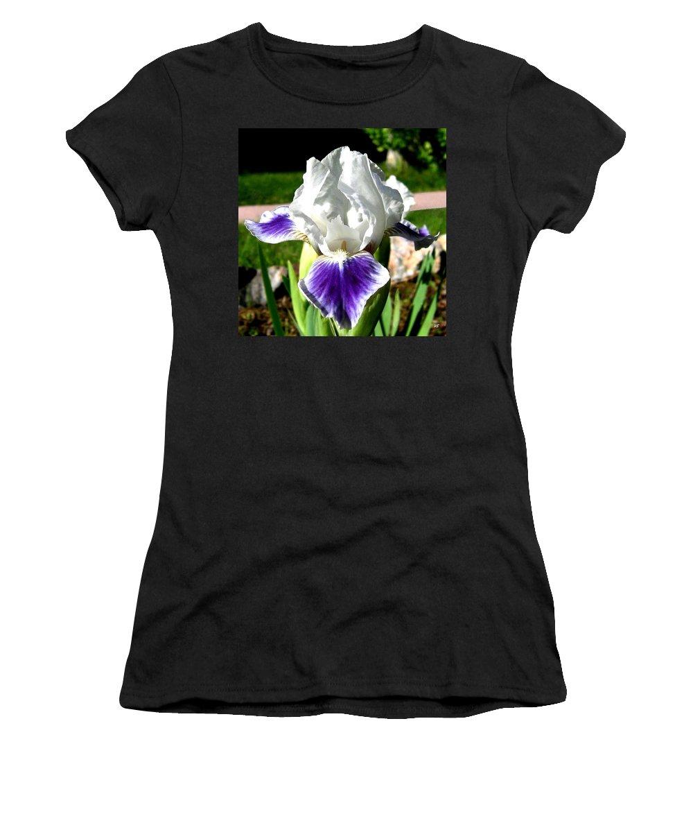 Iris Women's T-Shirt featuring the photograph Iris Elegance by Will Borden