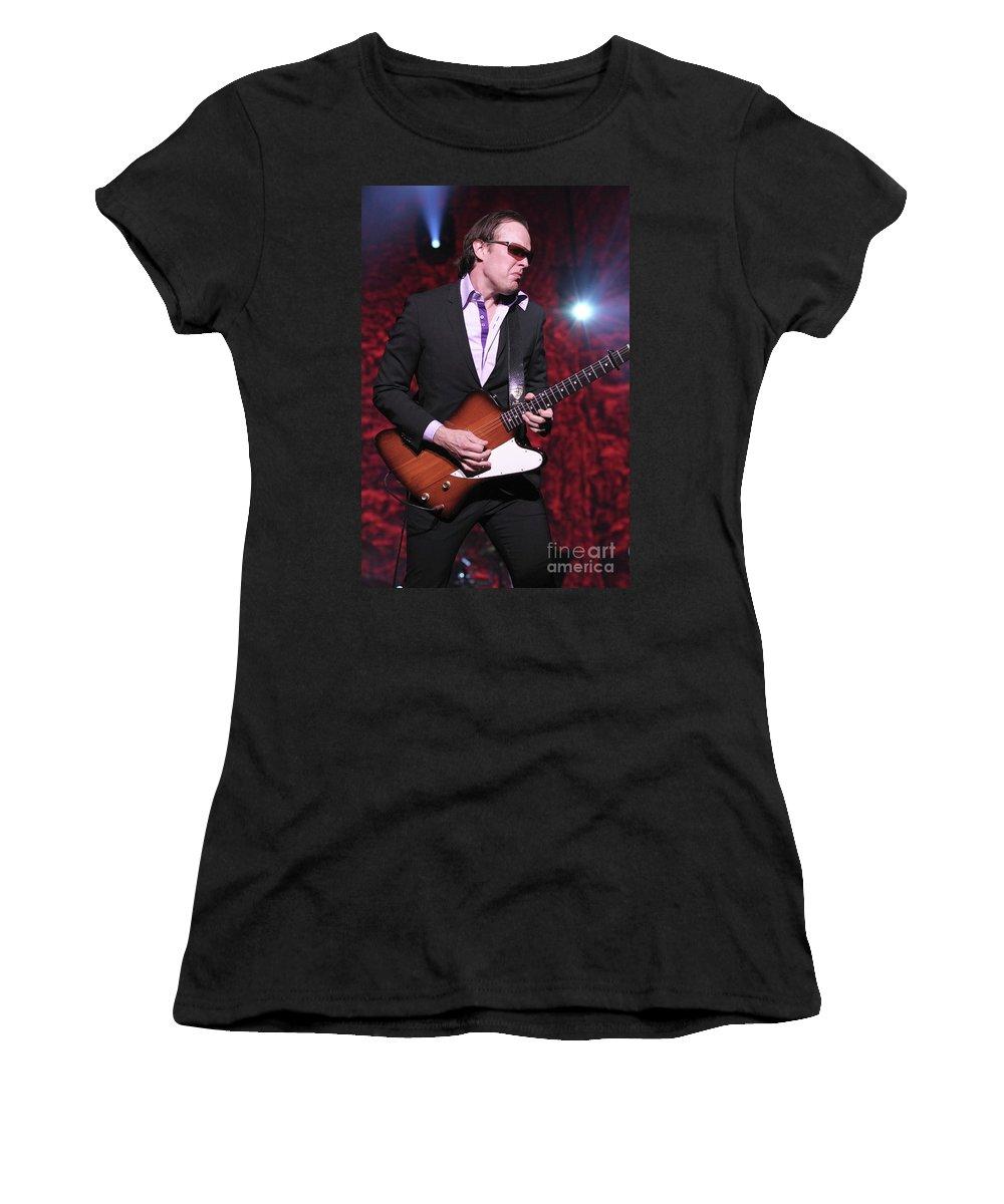 Blues Rock Guitarist Women's T-Shirt featuring the photograph Joe Bonamassa by Concert Photos