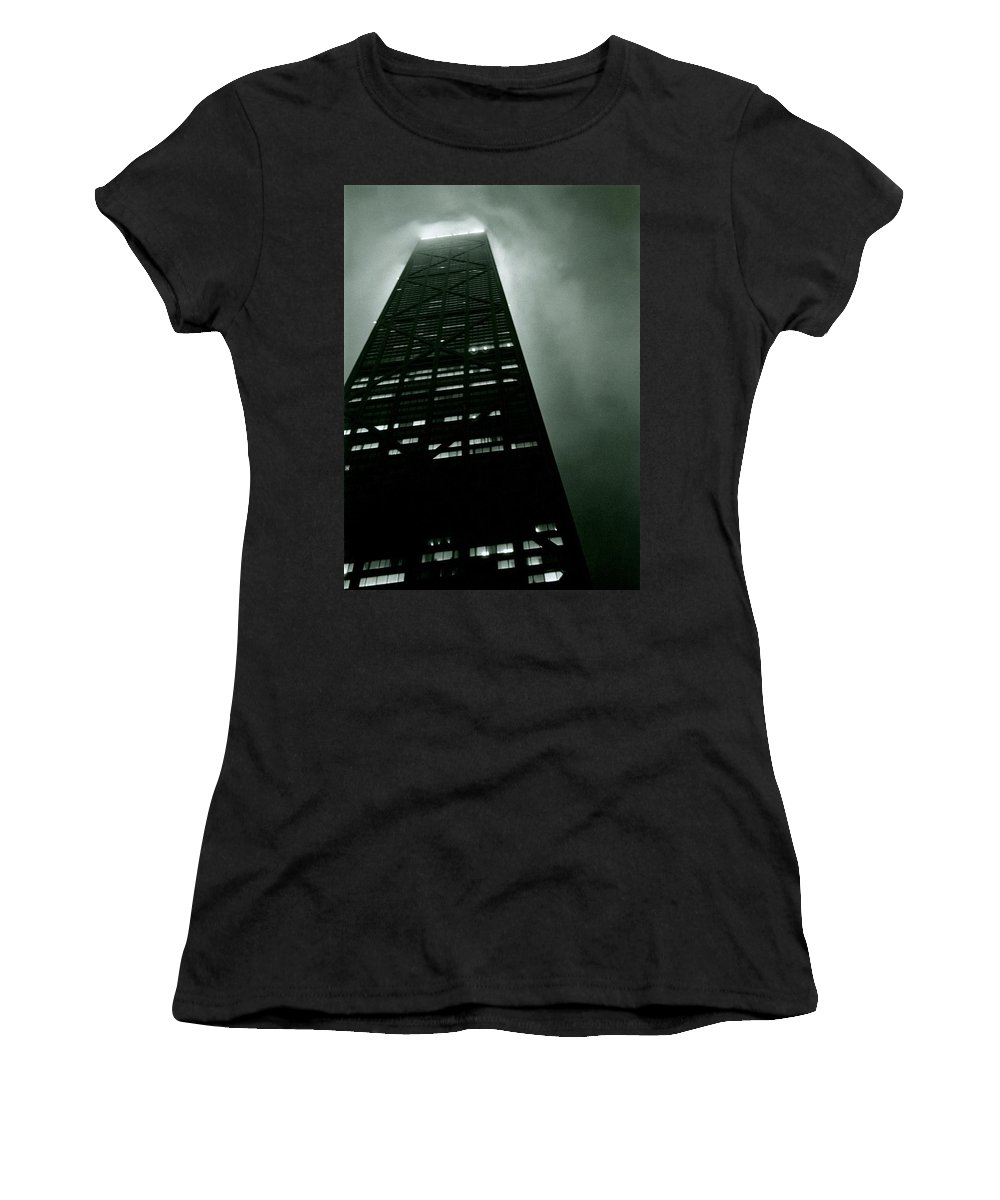 Geometric Women's T-Shirt (Athletic Fit) featuring the photograph John Hancock Building - Chicago Illinois by Michelle Calkins